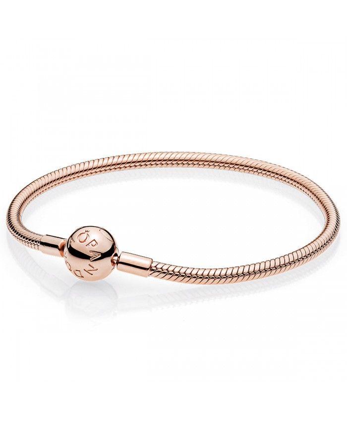 Pandora Bracelet Moments en PANDORA Rose avec Fermoir 580728 ...