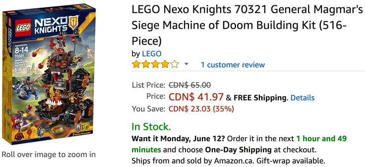 Amazon Canada Deals: Save 35% on LEGO Nexo Knights & 25% on Little Tikes Tot Sports T-Ball Set http://www.lavahotdeals.com/ca/cheap/amazon-canada-deals-save-35-lego-nexo-knights/211095?utm_source=pinterest&utm_medium=rss&utm_campaign=at_lavahotdeals