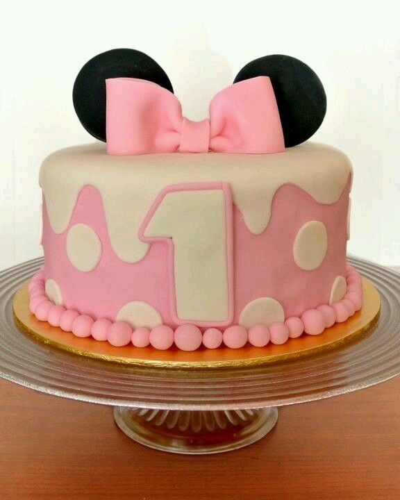 2nd Year Birthday Cake Designs For Baby Girl : My baby girl birthday cake minnie mouse cakes ...
