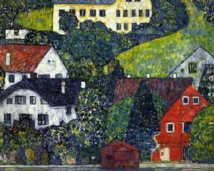 Houses at Unterach on the Attersee - Gustav Klimt