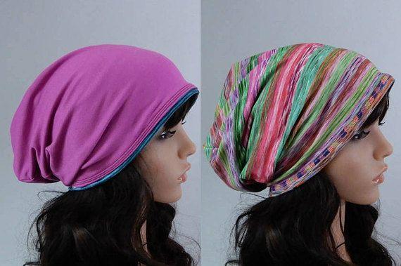 Jersey beanie women Slouchy beanie Viscose beanie hat