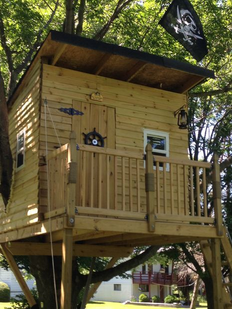   Pirate Hideout Treehouse   Instructable  