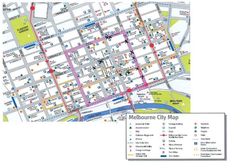 Map Of Art Within The Melbourne Cbd Spatial Association