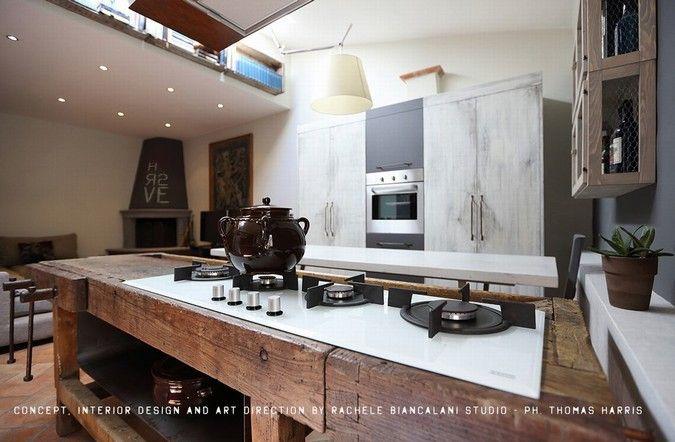 Progetto architettura vintage & industrial style, realizzato da Rachele Biancalani-I progettisti, modelli architettura progetto rendering 3d texture su Syncronia.