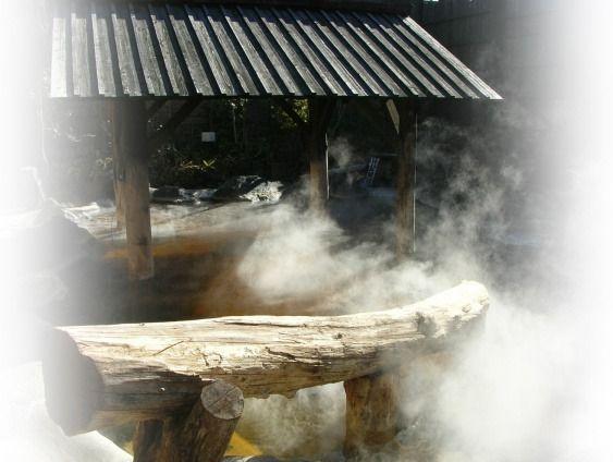 山奥の秘湯に旅行した気分になる露天岩風呂  open‐air bath, outdoor hot spring, Roten-buro