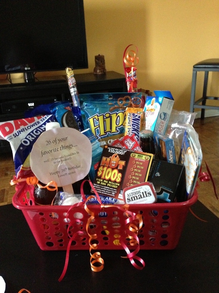 Boyfriend Birthday Basket 26 Of His Favorite Things For