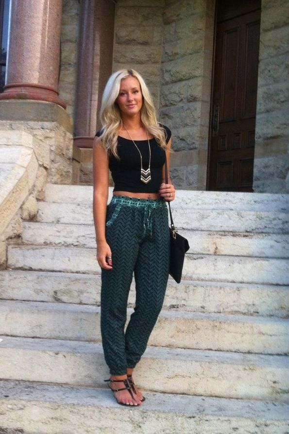 Harem pants and cropped top