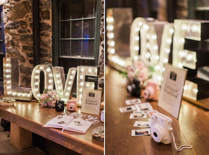 Polaroid Wedding Guest Book Idea