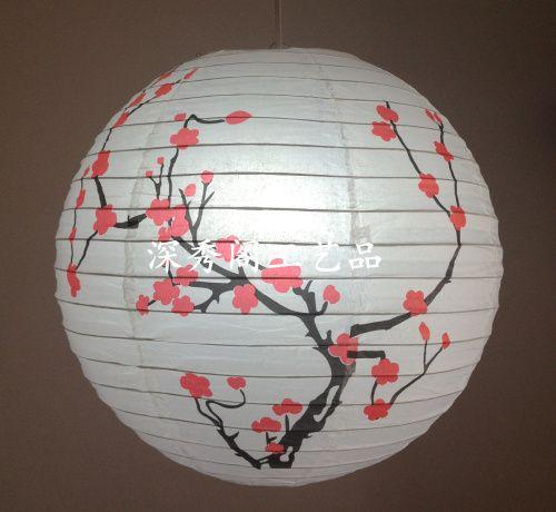 Лампы круг 35 см бумажный фонарь подвесной ручной работы высокое качество