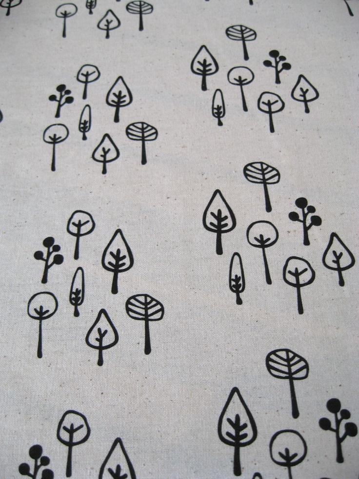 Felt.co.NZ inmybackyard  Little Forest - handprinted fabric