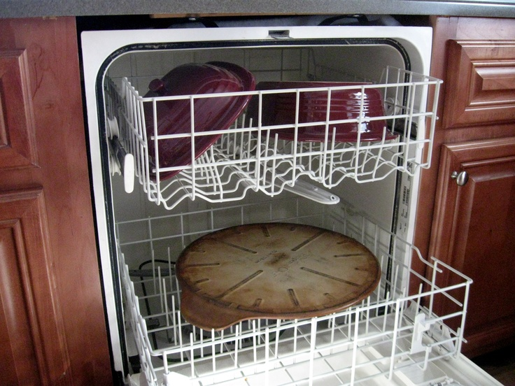 I was so relieved when my Pampered Chef consultant, Joy Weeks, told me I could give my stoneware a good, hot cleaning in the dishwasher. The key is, of course, to not add any detergent.