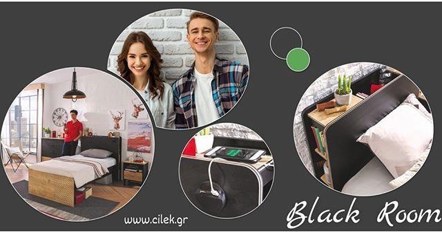 Παιδικό δωμάτιο BLACK η νέα πρόταση για το εφηβικό σας δωμάτιο σε λιτές γραμμές και μίνιμαλ σχεδίαση Δείτε όλο το δωμάτιο στο www.cilek.gr