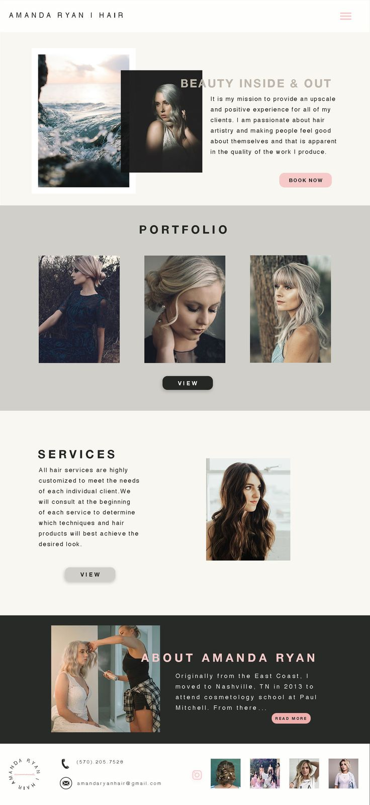 Amanda Ryan Hair Website