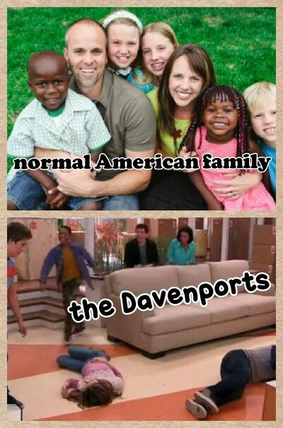 Right: the Dooley-Davenport clan is anything but normal!
