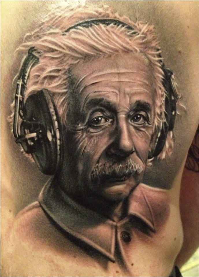 Eienstein portrait by meehow kotarski tattoo photo for Best realism tattoo artist