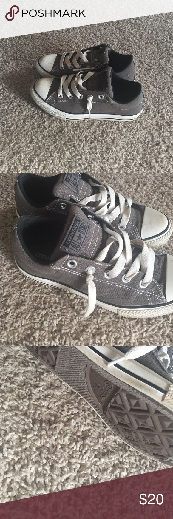 Girls tennis shoes Girls all star converse in good condition. Have a few stains on the shoes laces  (see pic) Converse Shoes Sneakers