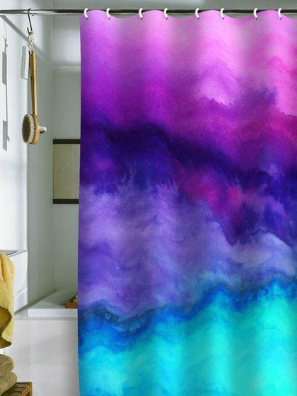201 best textiles tie dye dip dye ombre and batik for Purple ombre shower curtain
