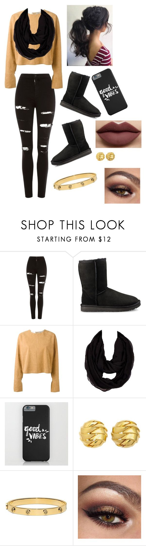 """Fall day"" by gussied-up on Polyvore featuring Topshop, UGG, STELLA McCARTNEY, Tiffany & Co. and Tory Burch"