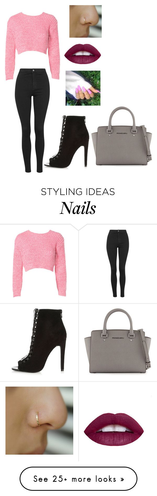 """Untitled #2400"" by slayyeettia on Polyvore featuring River Island, Topshop, MICHAEL Michael Kors, women's clothing, women, female, woman, misses and juniors"