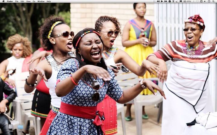 Xhosa women singing traditional wedding songs. Courtesy Lwazi Mashiya