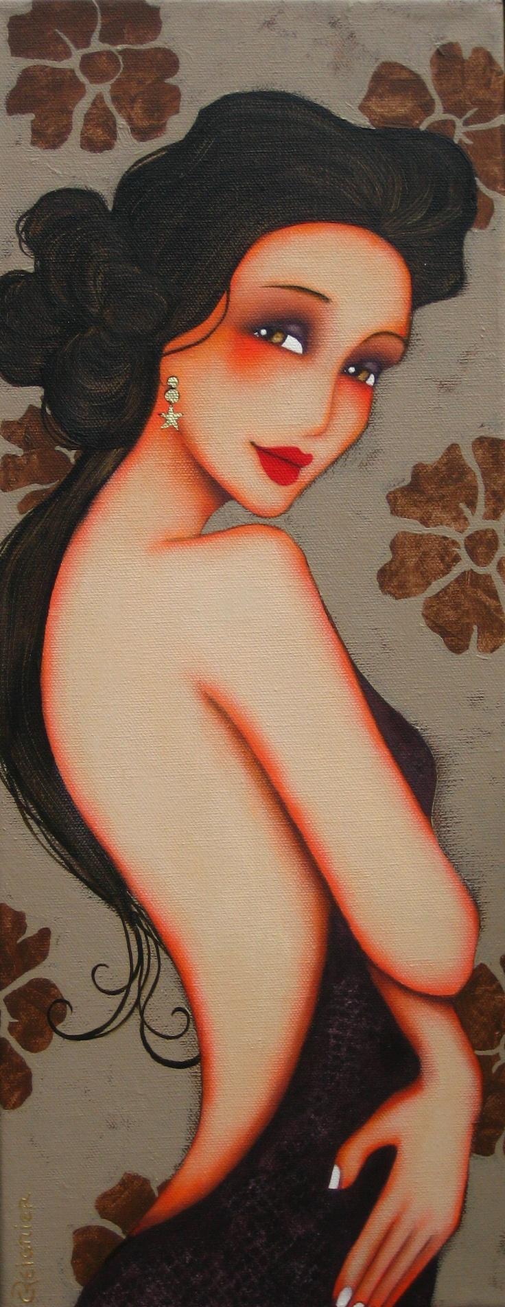 """""""Serena"""" by artist Corinne Reignier from 'artodyssey1.blogspot.com'★♥★A GEM★♥★"""