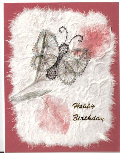 Butterfly on Handmade Paper...love this card!