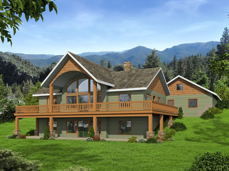 2 Story Rustic Home With Large Windows Icf Plan 2189