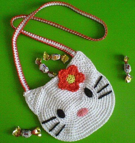 como hacer un bolso de crochet de hello kitty paso a paso                                                                                                                                                                                 Más