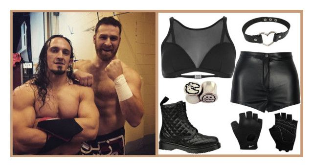 """Backstage photo w/ my mates from NXT {Sami Zayn, Adrian Neville}"" by lonely-wrestling-fan ❤ liked on Polyvore featuring Neville, Paul Smith, Dr. Martens, NIKE, WWE, AdrianNeville and samizayn"