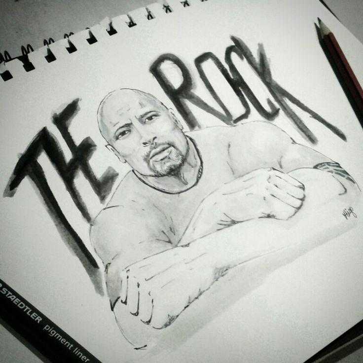 #inktober prompt 'rock'