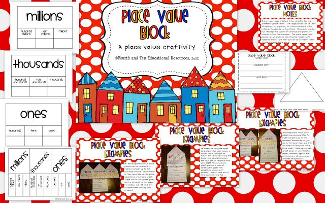 Fun craftivity for learning about place value