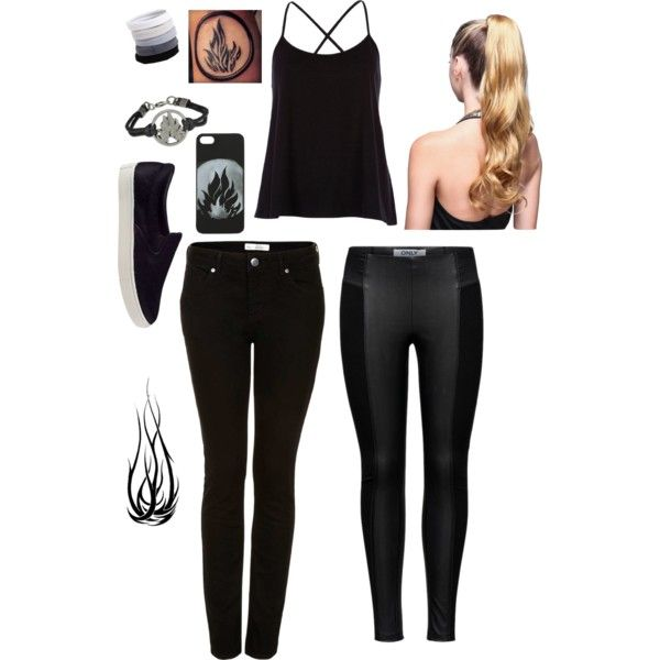 Dauntless Outfit by teentroublemakers on Polyvore featuring mode, River Island, Topshop, ONLY, Steve Madden, L. Erickson and Trilogy