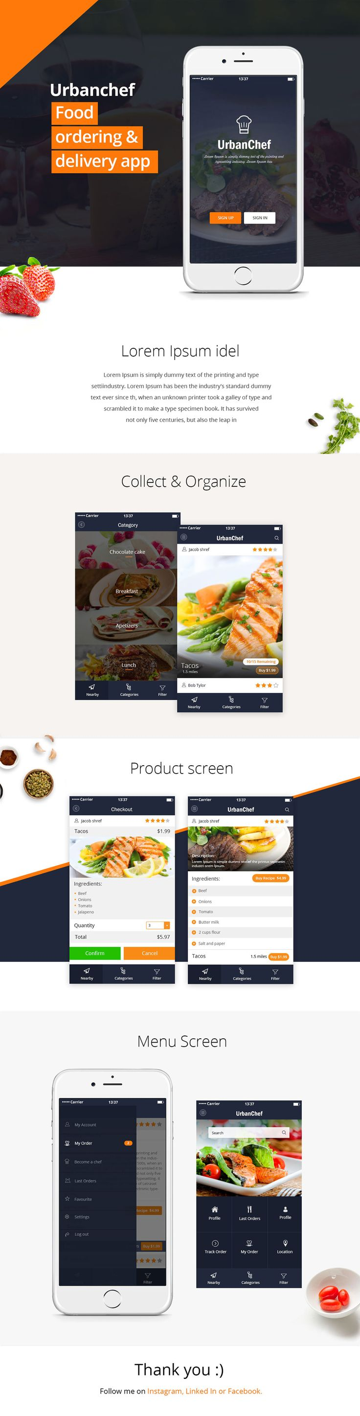 Food ordering & delivery app on Behance