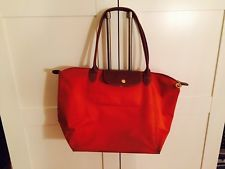 Longchamp Tasche Le Pliage Gr. M Orange Mit Langen Henkeln