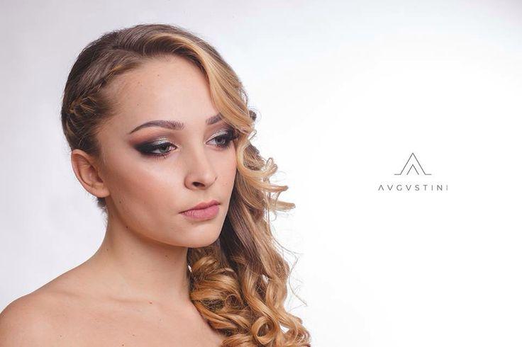 Angel Face. #makeup #makeupartist #augustini #portfolio #angel #smokey #glitter #curls