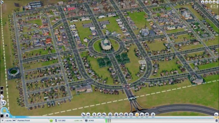Sim City Speed Run - Just the Basic City Layout (5X speed! - SimCity 2013)