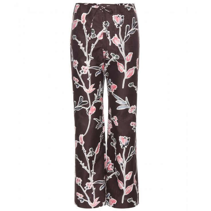 Marni - Cotton and silk trousers - Marni's floral-printed trousers are a perfectly feminine option for spring. The plum hue is contrasted next to colourful florals, while the wide leg is seriously on trend. We'll be wearing ours with silver flat sandals and a white T-shirt tucked in. seen @ www.mytheresa.com