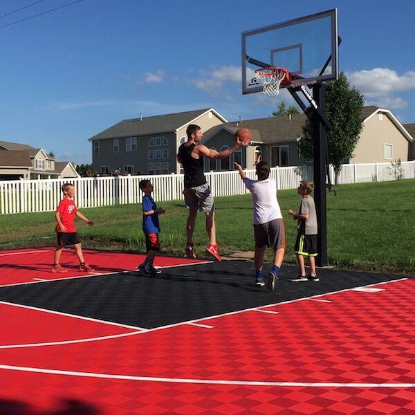 Backyard Basketball Court Flooring Modutile Outdoor Sport Tiles Outdoor Basketball Court Basketball Court Backyard Backyard Basketball