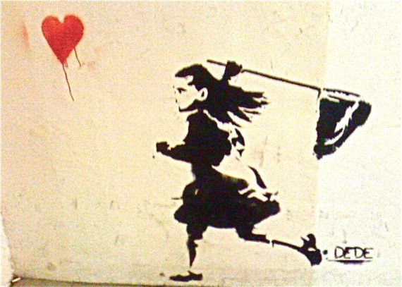 Runaway Heart GRAFFITI Photo Tel Aviv signed phipps y moran by TooArtfulForYou, $29.99