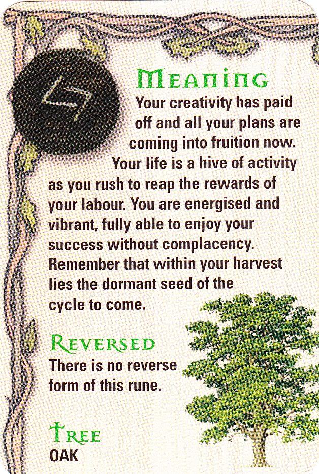 Rune - Jara - J - Harvest