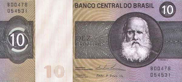 10 Крузейро (1970 - 1980) Бразилия (Brazil) Южная Америка