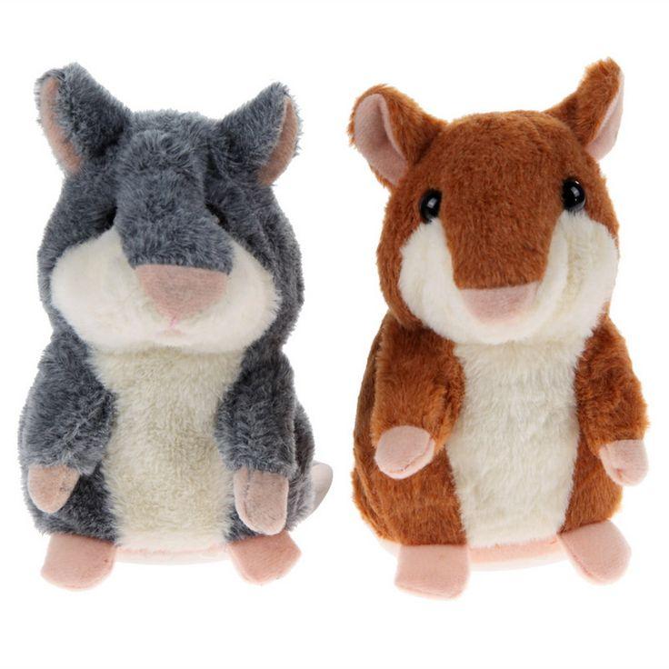 Sevimli Talking Hamster Peluş Oyuncak Çocuklar Ses Kayıt Konuşun Talking Hamster Eğitici Güzel Bebek Oyuncak Hediye