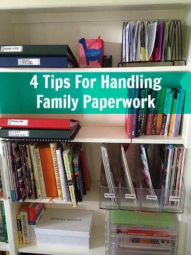 Home Organisation – 4 Tips For Handling Family Paperwork
