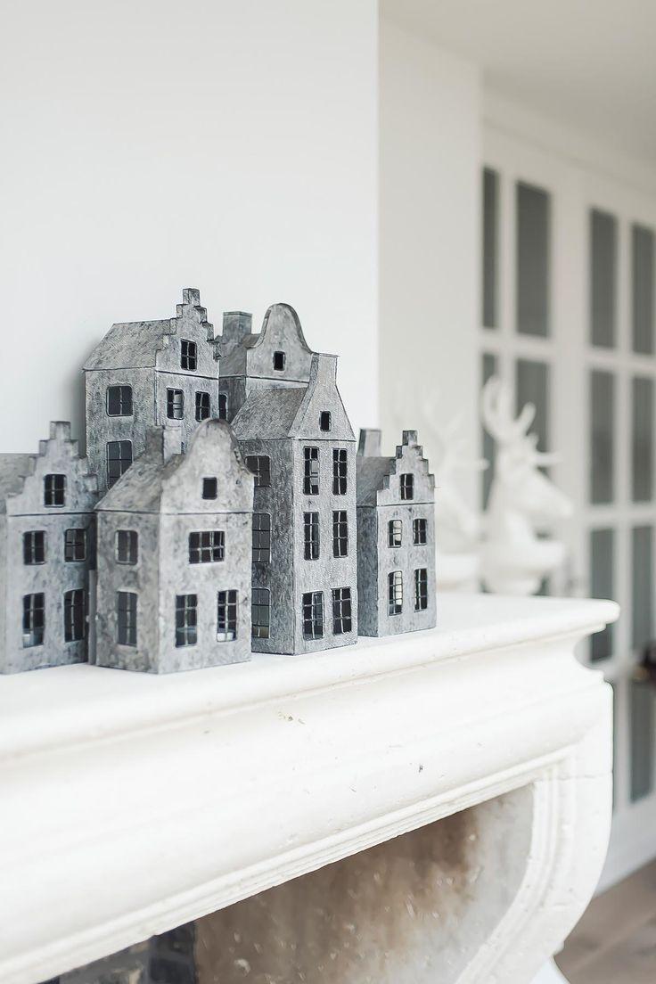 huisjes metaal waxinelichtjes | www.twoonhuis.nl