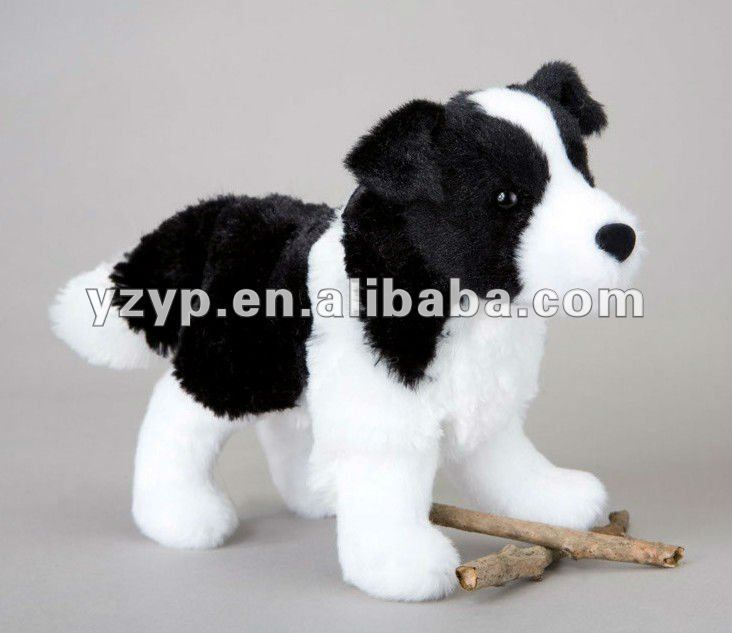 Meadow Border Collie black and white stuffed plush dogs #Border Collie, #For Sale