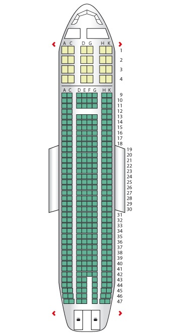 Seat Plan For The Aer Lingus A330 200 Ireland