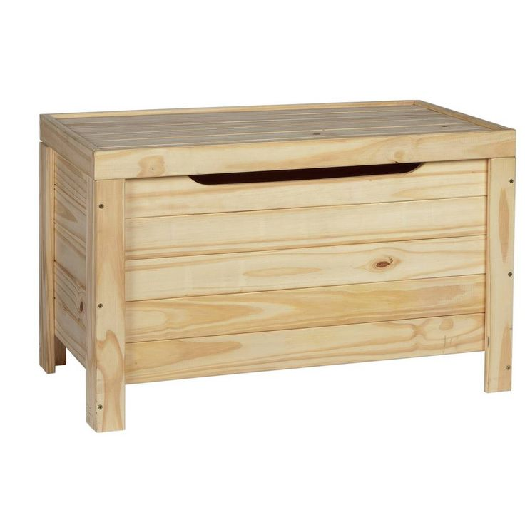 Buy argos home wooden storage box unfinished pine