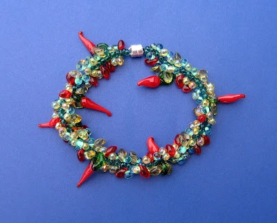 Really cool chili pepper bracelet for Cinco de Mayo.