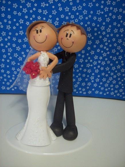 Groom & Bride made of foam material.