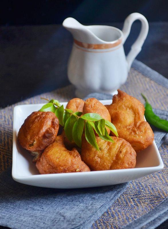 {New post}. Goli baje recipe: No soak,no grind snack with flour and curd. Delicious goli baje or Mangalore bonda recipe @ http://cookclickndevour.com/2014/12/goli-baje-recipe.html